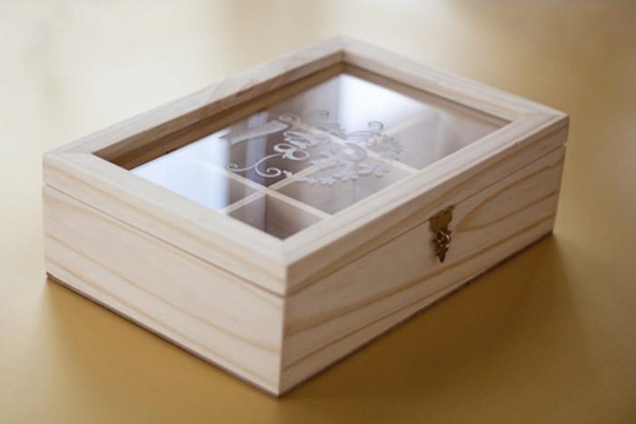 caja para guardar el té pequeña