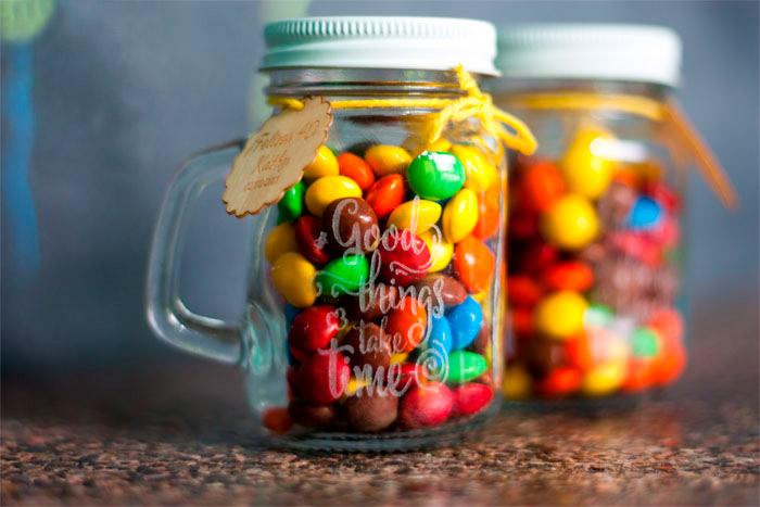 Mini jar con grabado personalizado de 130ml (4oz.)